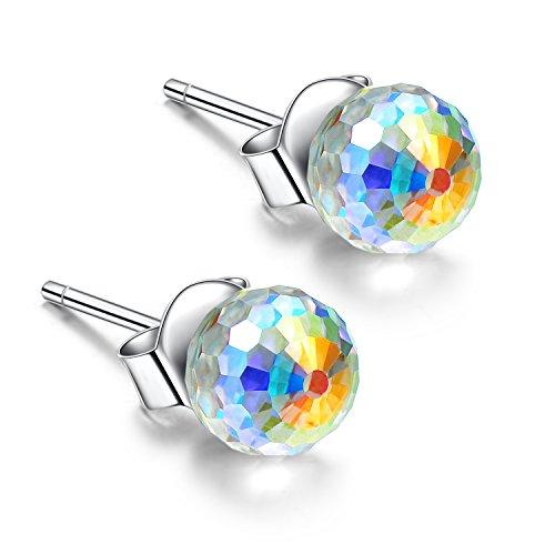 925 Sterling Silver 8mm Ball Earrings Hypoallergenic Earring