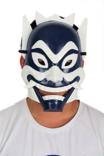 Karneval Masken Harz Cosplay Blau Weiß Grimasse Maske für Erwachsene Maskerade Verrücktes Kleid Party (Kostüm Party Für Christmas White)