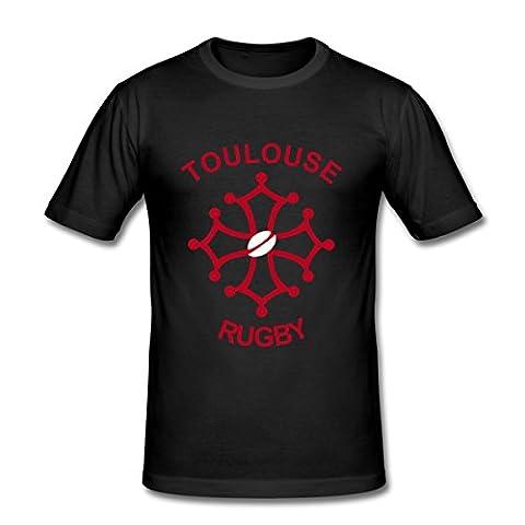 Toulouse Rugby Tee shirt près du corps Homme de Spreadshirt®, L, noir