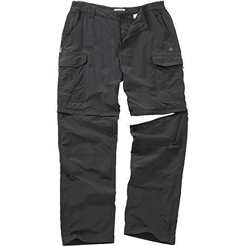 CraghoppersNosiLife CR116 Zip-Off-Hose für Herren Einheitsgröße Schwarz - Black Pepper (Insektenschutz Für Kleidung)