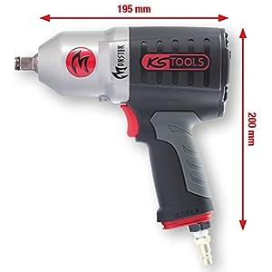 KS Tools 515.1210 Atornillador de Impacto neumático de Alta Potencia de 1/2″ Monster, 1690NM