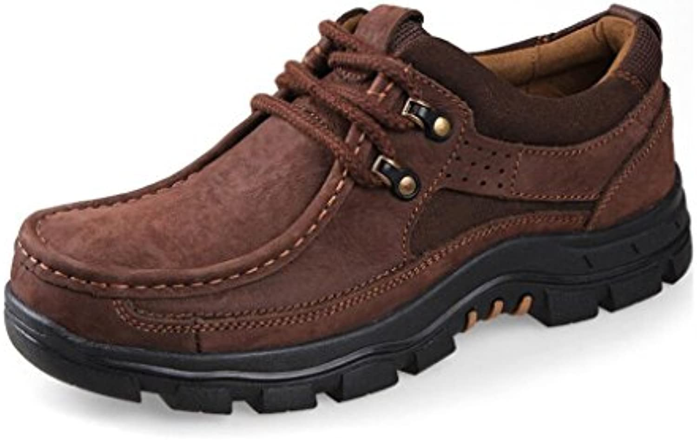 YaXuan Lederschuhe im Freien  wandernde Freizeitschuhe  Laufende Sport Turnschuh  gehende Schuhe der Männer  Schuhe