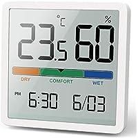 Noklead Termómetro Higrómetro digital portátil, termómetro e higrómetro interior con alta precisión, temperatura y medición de humedad del aire para control de la temperatura de la habitación