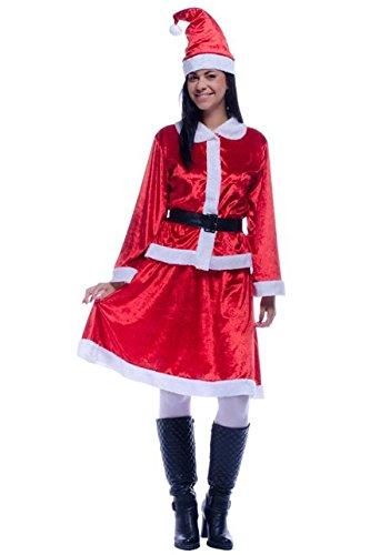 Unbekannt Aptafêtes Kostüm Miss Santa aus Samt Effekt-Set von 4-no2289/M-Größe (Samt Miss Santa Kostüme)