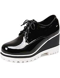 Coolcept Zapatos con Plataforma de Tacon Cuna para Mujer