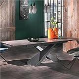 NOUVOMEUBLE Table Extensible en céramique Grise Bonita