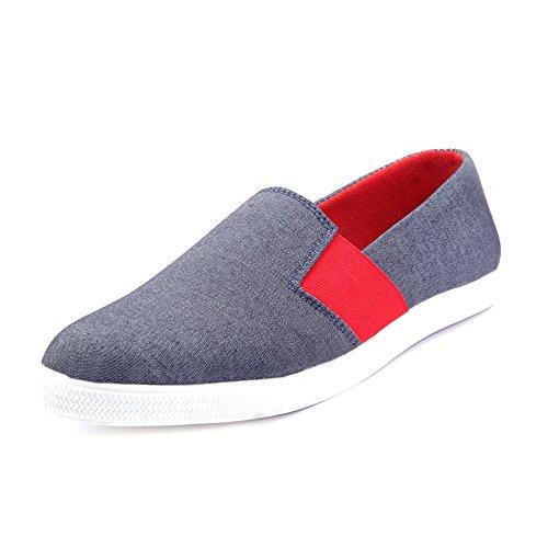 Knoos Men's Canvas Casual Shoes (NRI03-GREY-8__Grey_8)-NRI03-GREY-8