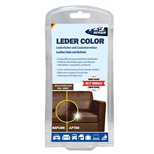 1-2-3 REPAIR 123Repair Lederfarbe - Ledercouch wie Neu - Lederfärbemittel - Braun 57ml -