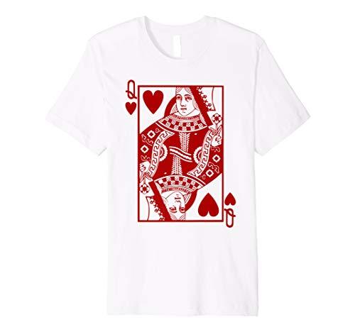 Herz Königin Kostüm T Shirt Blackjack Spielkarte Geschenk