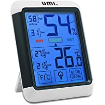 Umi. Essentials Digital Thermo-Hygrometer Indoor Temperature Humidity Monitor with Touchscreen and Backlight