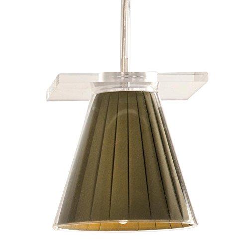 Kartell Light Air Lampada a sospensione con tessuto plissettato, beige plastica