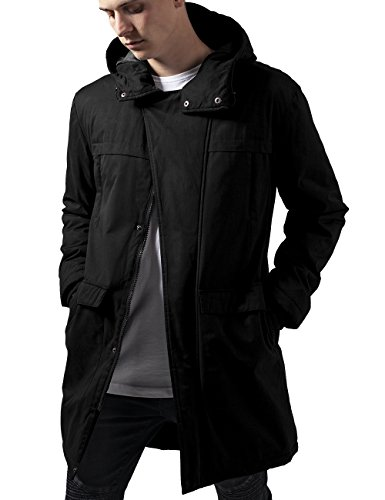 Urban Classics Cotton Peached Canvas Parka, Giacca Uomo, Nero (Black 7), Small