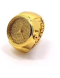 Women Men Stainless Steel Dial Quartz Analog Watch Creative Cool Elastic Lovers Finger Ring Watch