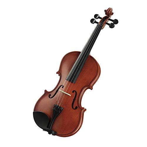 LAGRIMA Geige/Violine Größe 4/4 Naturholz Akustische Violine, praktische handgefertigte Violine mit Koffer, Bogen, Kolophonium und Saite für Anfänger, natürlichen Fichte