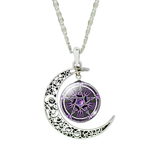 charm-lavender-galaxy-cosmic-five-pointed-star-religion-symbol-collar-necklace-for-friend-gift