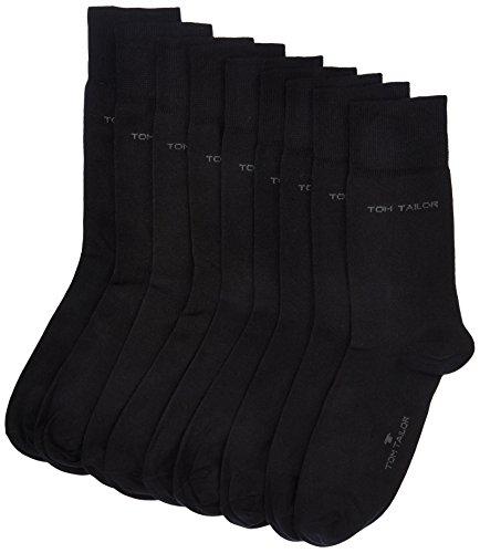 TOM TAILOR Herren Socken 9003Z, 9er Pack, Gr. 39/42, Schwarz (black 610)