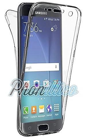 Telephone S5 Samsung - Phonillico® Coque Gel TPU Silicone Intégrale Transparent