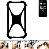 K-S-Trade Handyhülle für Allview A9 Lite Schutz Hülle Silikon Bumper Cover Case Silikoncase TPU Softcase Schutzhülle Smartphone Stoßschutz, schwarz (1x)