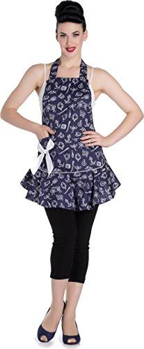 Hell Bunny Damen Schürze Marin Sailor Anker Apron Mehrfarbig One Size (passt allen Größen)