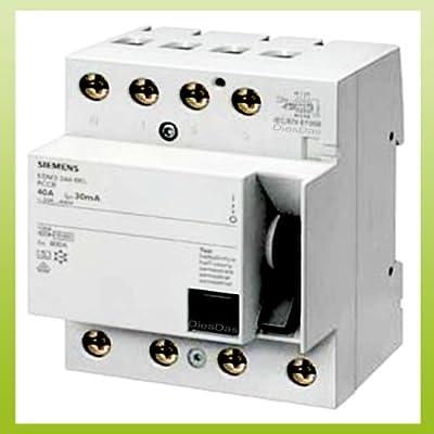 Siemens FI-Schutzschalter 40A 4-polig 30mA 5SM3344-6 von Siemens bei Lampenhans.de