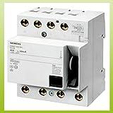 Siemens FI-Schutzschalter 40A 4-polig 30mA 5SM3344-6