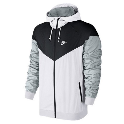 Nike Herren Sportswear Windrunner Jacke, White/Black/Wolf Grey, XL