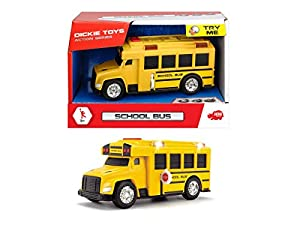 Dickie- Action Series Escuela Bus cm. 15, Luces y Sonidos, Try Me, 203302017