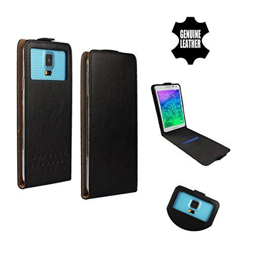 Handy Schutz Hülle | für HP Elite x3| Slim Flipstyle mit Magnetverschluss | HQ Echt Leder | - Flip Nano XL Schwarz