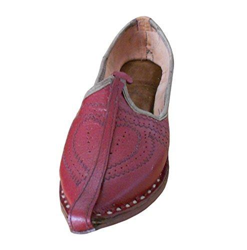 Kalra creations giacca tradizionale indiano del matrimonio scarpe, rosso (cherry), 41,5 eu