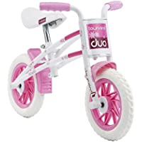 Townsend Duo Girls' Kids Bike White/Pink 1 speed puncture proof tyres comfy ergonomic grips