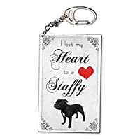 Beenanas Lost My Heart To A Staffy Staffordshire Bull Terrier Keyring Bag Charm