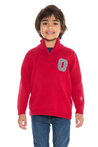 Alma Mater NCAA Ohio State Buckeyes Jungen Quarter Zip Pullover, X-Large, Scarlet