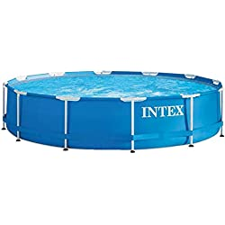 Intex Metal Frame - Piscina desmontable de 6.503 litros, 366 x 76 cm