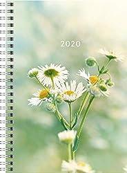 rido/idé 702180702 Buchkalender Timing 1 (2 Seiten = 1 Woche, 148 x 210 mm, Grafik-Einband Fiori, Kalendarium 2020)