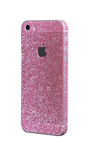 PaLus Luxury iPhone 6 5 5S 5C 4S 4 Glitter Bling Body Skin Stickers + Screen Protector (iPhone 5/5S, Rose Pink) by PaLus (5s Pink Screen Protector)