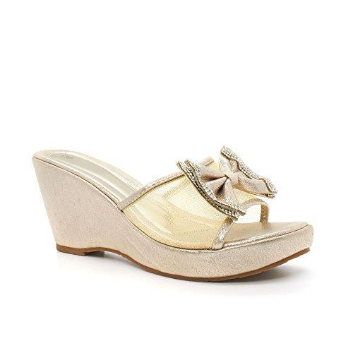 Ouro Carla cunha Com Sapatos Londres Senhoras Loop 0APSqfxUwW