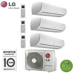 LG CONDIZIONATORE CLIMATIZZATORE INVERTER TRIAL SPLIT INVERTER MU3R21 9000+9000+9000 9+9+9 SERIE LIBERO CON GAS R32 A++