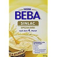 Nestlé BEBA Sinlac Spezialbrei, bei Glutenunverträglichkeit, milch-, soja- & glutenfreier Babybrei, mit Johannisbrotkeimmehl, nach dem 4. Monat, 6er Pack (6 x 500 g)