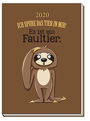 Taschenkalender 'Faultier' 2020: A7, Eine Woche auf zwei Seiten, 7 x 10 cm
