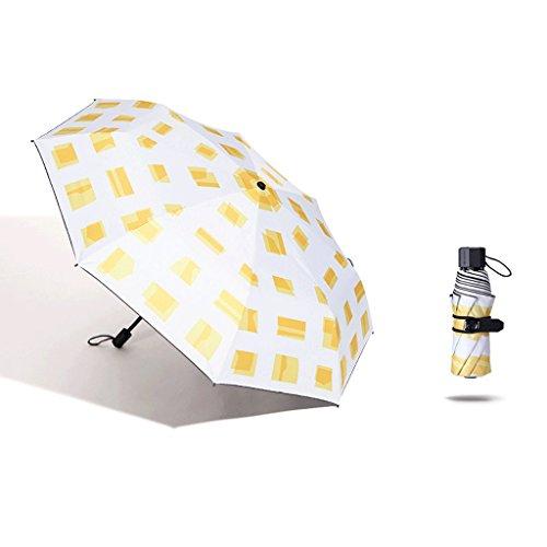 HUXIUPING Sonnenschirm Sonnensegel UV Ultra Light Falten Regen Dual-Use-Männchen Mini-Sonnenschirm...