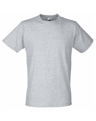 Fruit of the Loom Fitted Valueweight T Shirt Grau - Erika-Grau