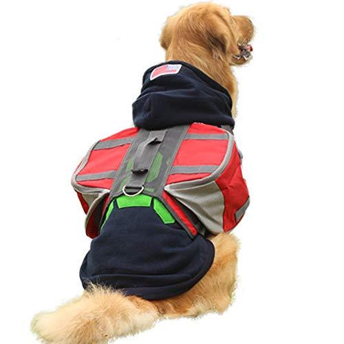 wasserdichte Hundesatteltasche Hund Satteltaschen Wanderausrüstung Rucksack Abnehmbarer Rucksack Reise Tragetasche Hound Harness Tasche for mittlere und große Hundetraining Dog Satteltaschen