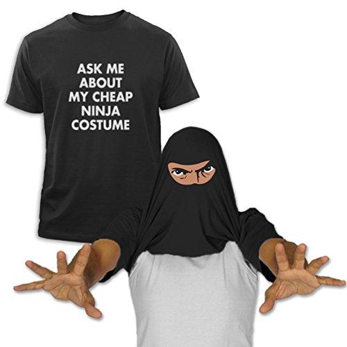 üm Fragen Sie mich Schwarz XX-Large T-Shirt (Ninja Turtle Kostüm Lustig)