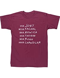 Camiseta de manga corta Hippowarehouse, con los nombres de la serie Friends, Rachel,