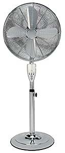 Aironic ® 16inch Pedestal Floor Fan, 3 Settings, Tilt , Chrome Finish, 4 Aluminium Blade Design, 50W Copper Motor, 7 Hour Timer Remote Control