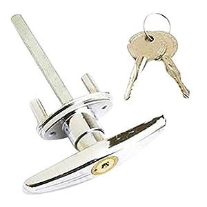 uooom-en-T-para-puerta-de-garaje-Lock-fijacin-espigas-cerradura-con-2-llaves