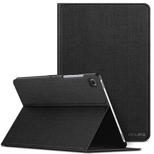 Infiland Coque Compatible avec Galaxy Tab S5e 10.5, Housse Étui de Protection avec Multi-Angle Fermeture Support Fonction magnétique pour Samsung Galaxy Tab S5e T720/T725 10,5 2019, Noir