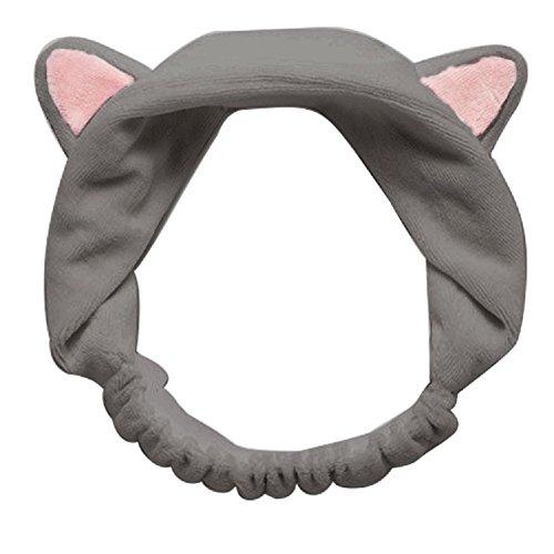 MOONPOP Flannel Orecchiette Elastic Haarnadel Haarband Haarreif Turban Haarband Baden Spa Make up Stirnband (Ohr Zubehör Kostüm Cat)