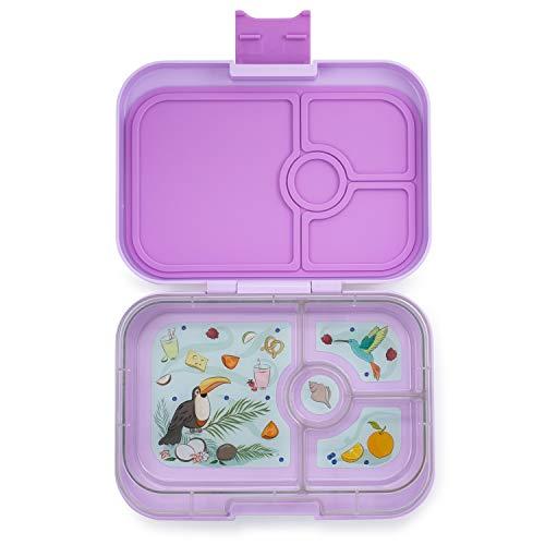 Yumbox Panino M Lunchbox - 4 Fächer, mittelgroß   Brotdose mit Trennwand Einsatz   Brotbox für Kindergarten Kinder, Schule, Erwachsene (Lila Purple)