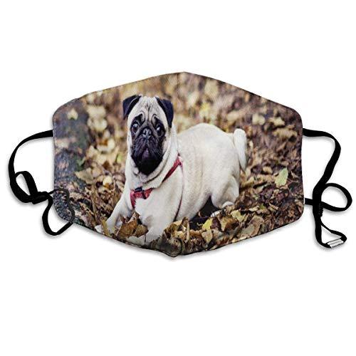 Custom Mouth Mask Anti-Dust Pug Dog Sunglasses Palm Tree Face Mask Breathable Mask...